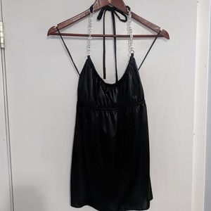 Guess Jeans black halter top